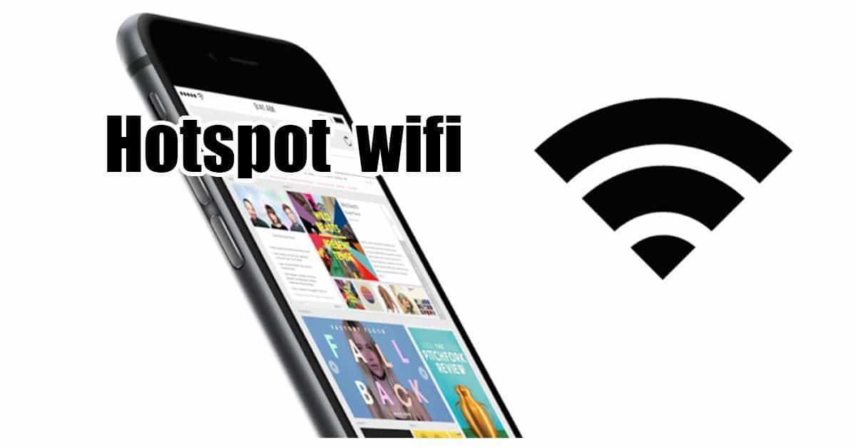 attivare hotspot wifi iphone