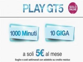 play gt5 1000 minuti 10GB 5€ tre italia
