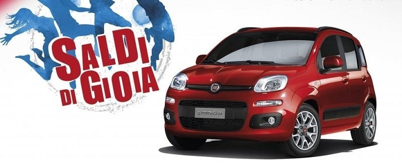 Fiat presenta Saldi di gioia: 30% di sconto in pronta consegna
