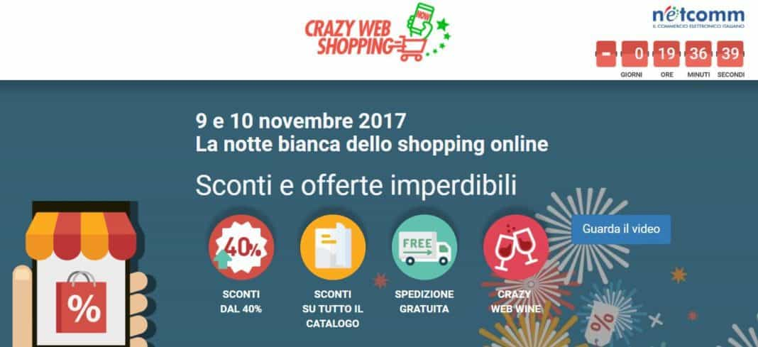 Ritorna Crazy Web Shopping: 30 ore di shopping con sconti incredibili