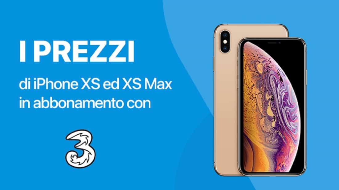 Tariffe 3 Italia per acquistare iPhone XS e XS Max