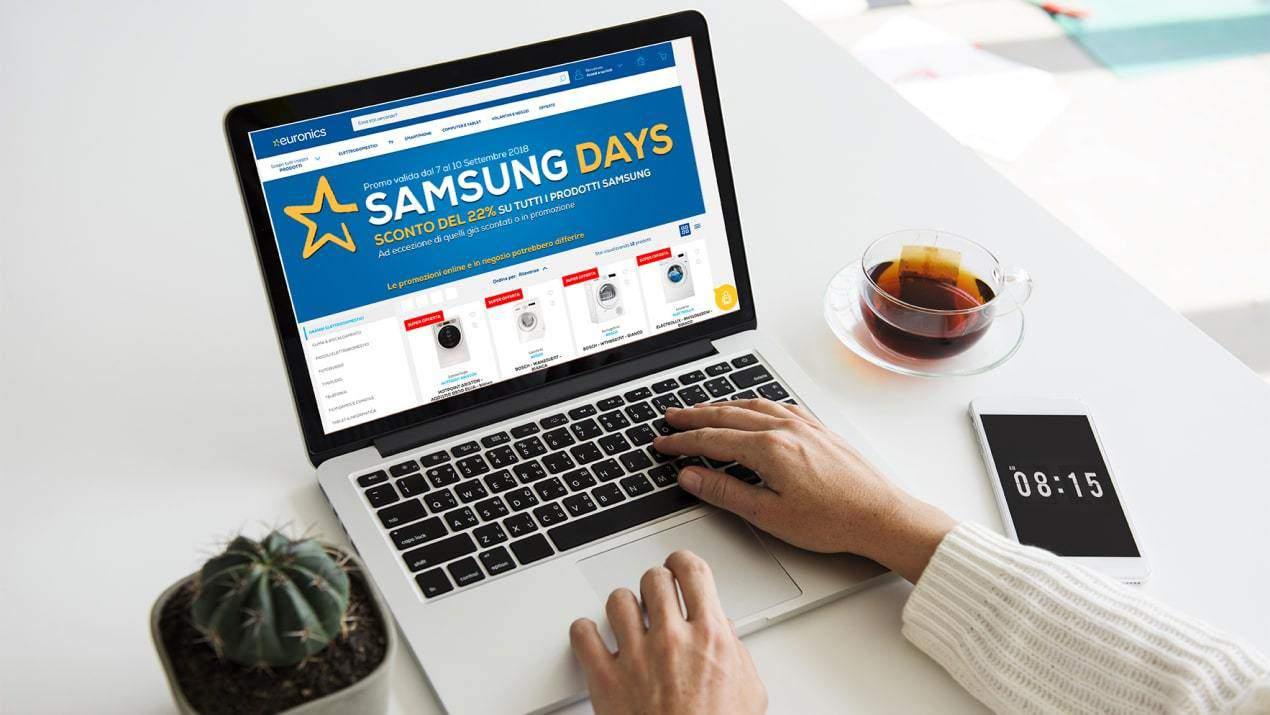 Euronics: arrivano gli sconti dei Samsung Days