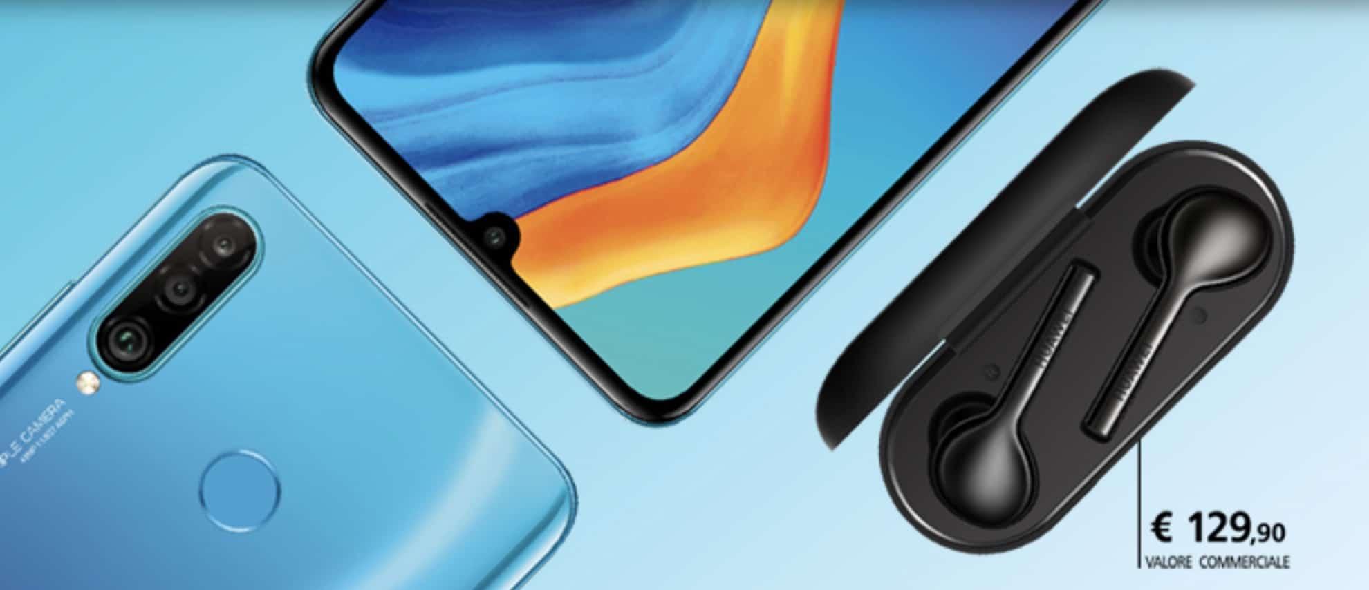 omaggio le Huawei FreeBuds Lite e 30€ di contenuti cinema