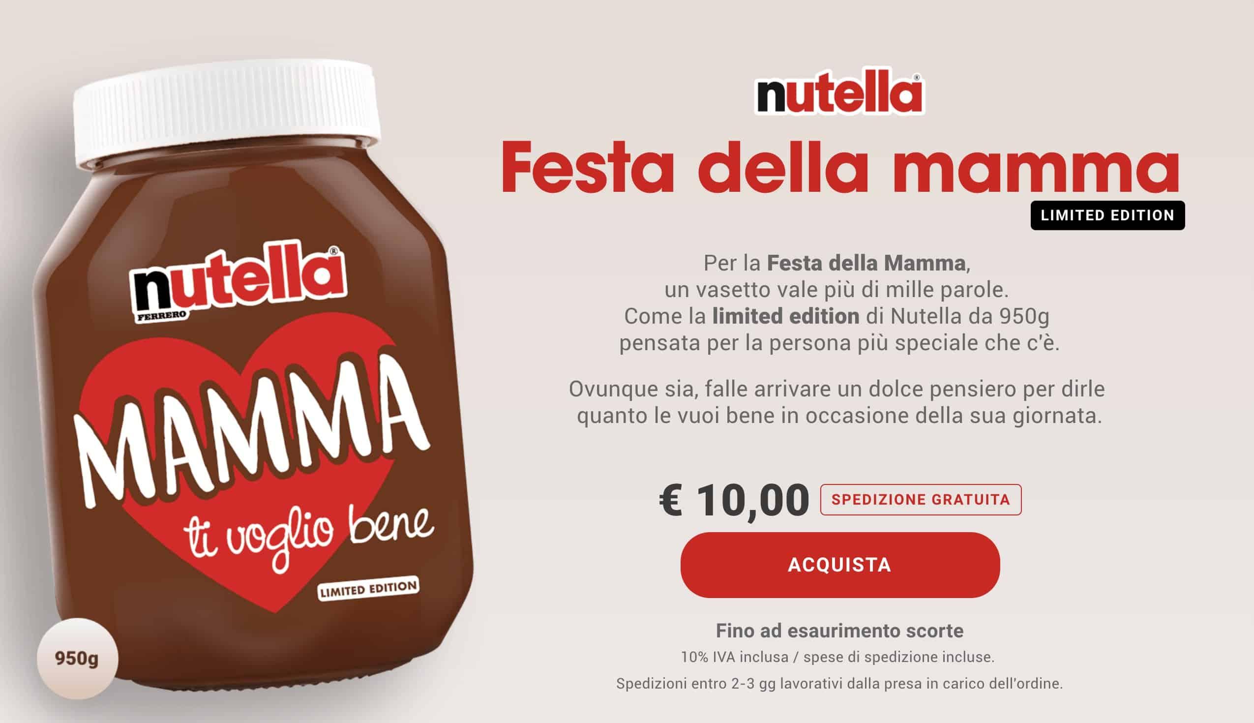 Nutella Limited Edition per la festa della Mamma 2019