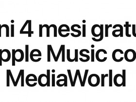 4 mesi gratis di Apple Music con MediaWorld