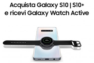 Galaxy Watch in omaggio con l'acquisto di un Galaxy S10