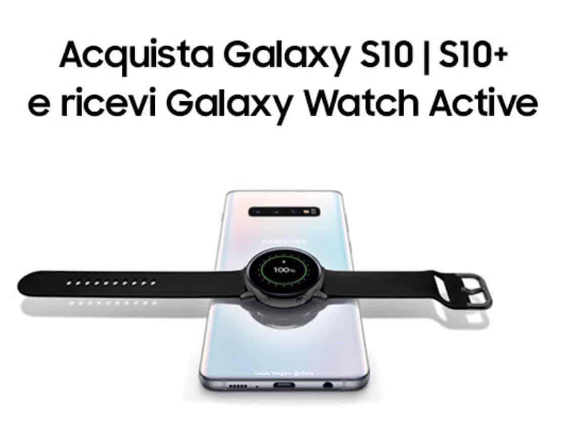 Galaxy Watch in omaggio con l'acquisto di un Galaxy S10