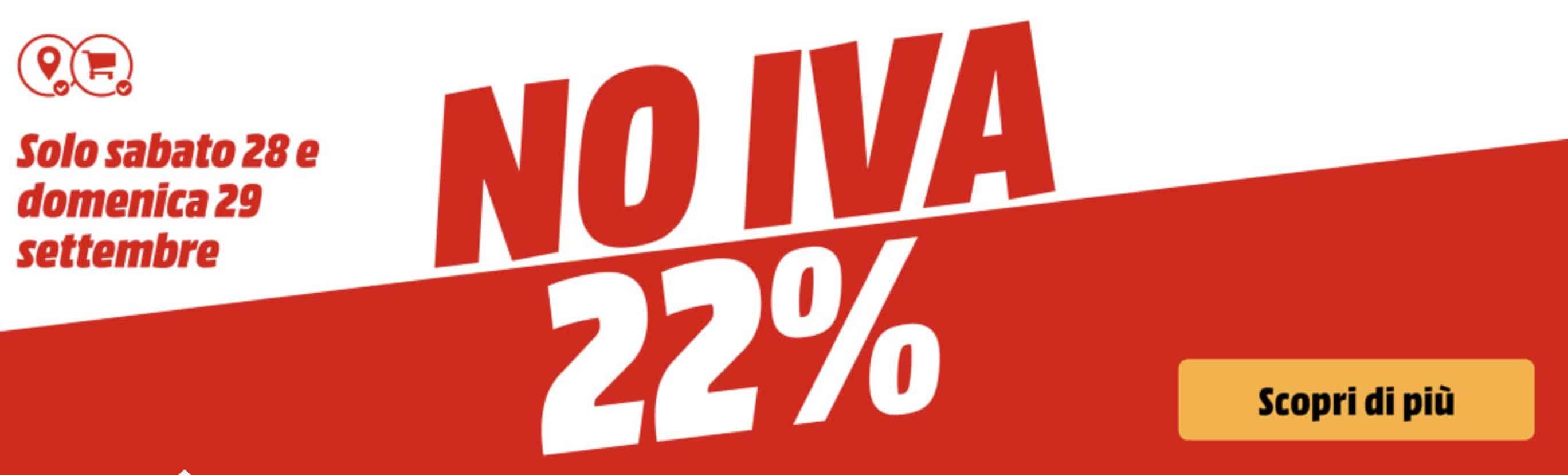 Mediaworld No Iva il 28 e 29 Settembre