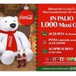 Vinci un peluche gigante a forma di orso con Coca-Cola