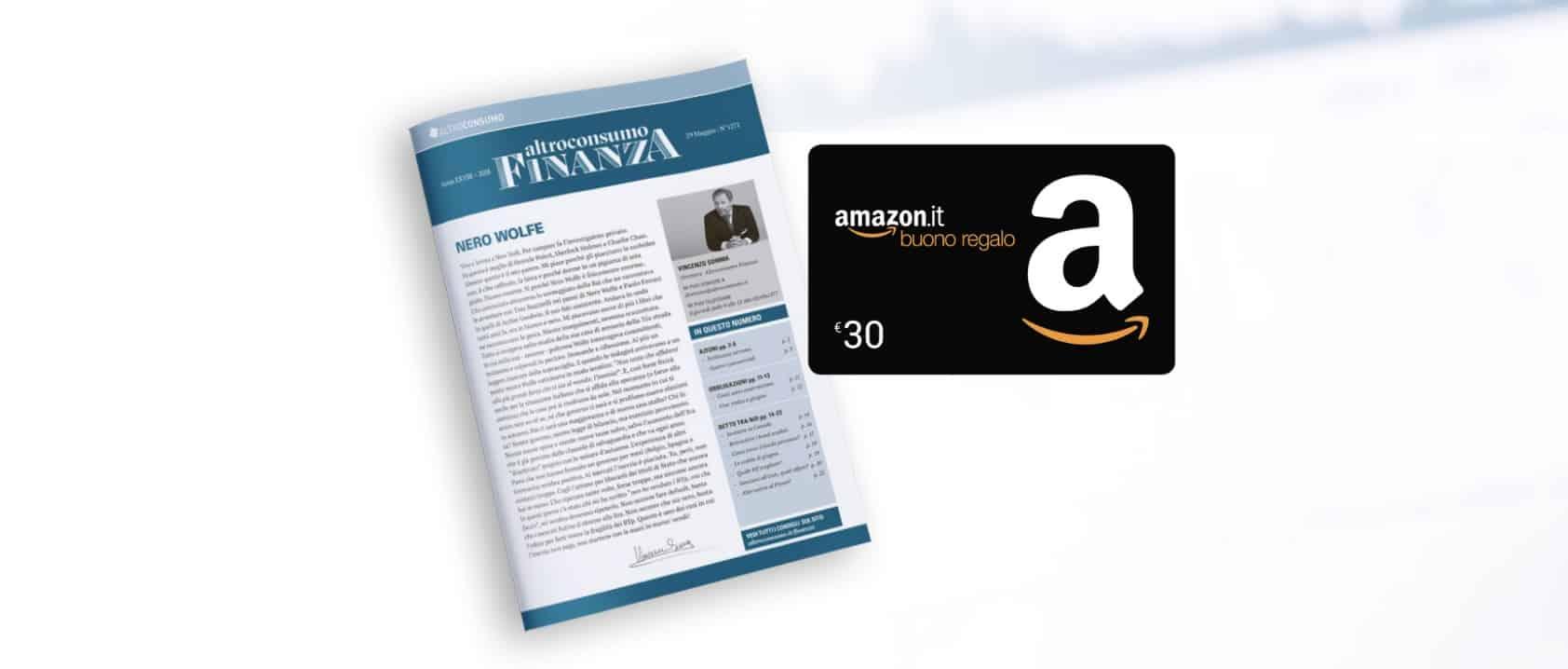 Altroconsumo Buono Regalo Amazon da 30€ come regalo di benvenuto