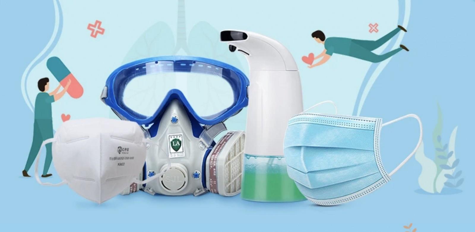 Banggood tante mascherine e sistemi di protezione contro il coronavirus