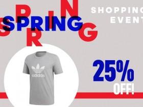 Adidas Spring Shopping Event 25% di sconto