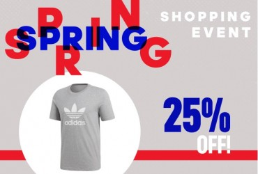 Adidas Spring Shopping Event 25% di sconto