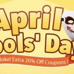 Banggood April Fool's Day sconto extra del 20%