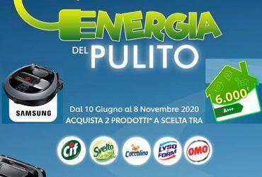 Vinci Robot Aspirapolvere Samsung e 6000 euro con il concorso Energia del pulito
