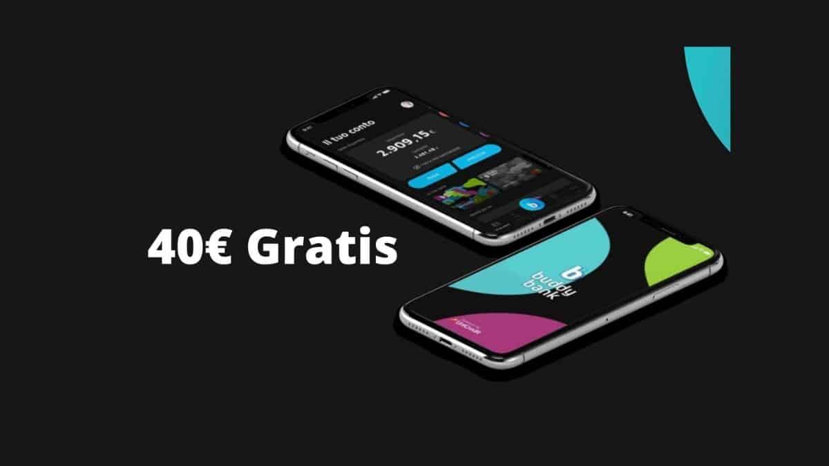 40 euro GRATIS aprendo un conto BuddyBank