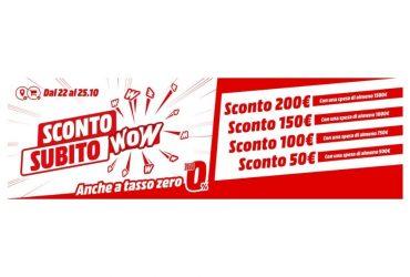 MediaWorld ritorna la promozione Sconto Subito WOW