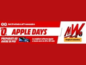 mediaworld apple days 2020