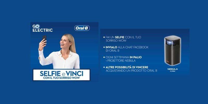 """""""Vinci con il selfie Oral-B Wave 2"""" in palio Proiettori Nebula Anker"""